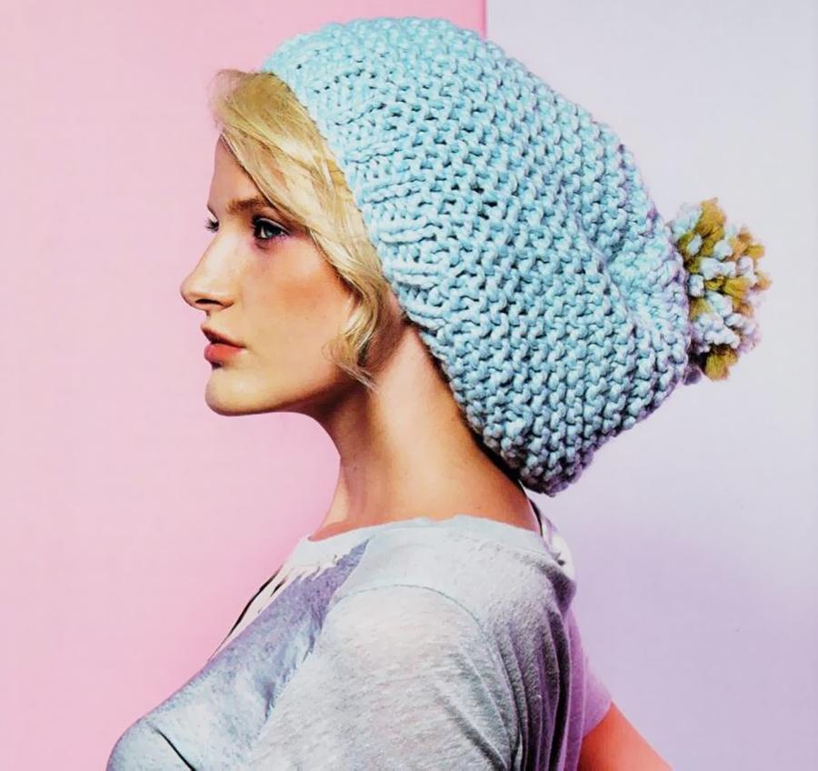 Simple Knit Bobble Hat Pattern - KnitCraft